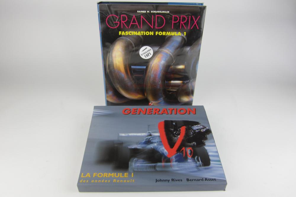 F1: Two large hardcover books on F1 (one signed) - Price Estimate